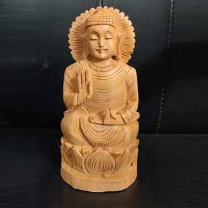 woodenKamal-Buddha-6-inch